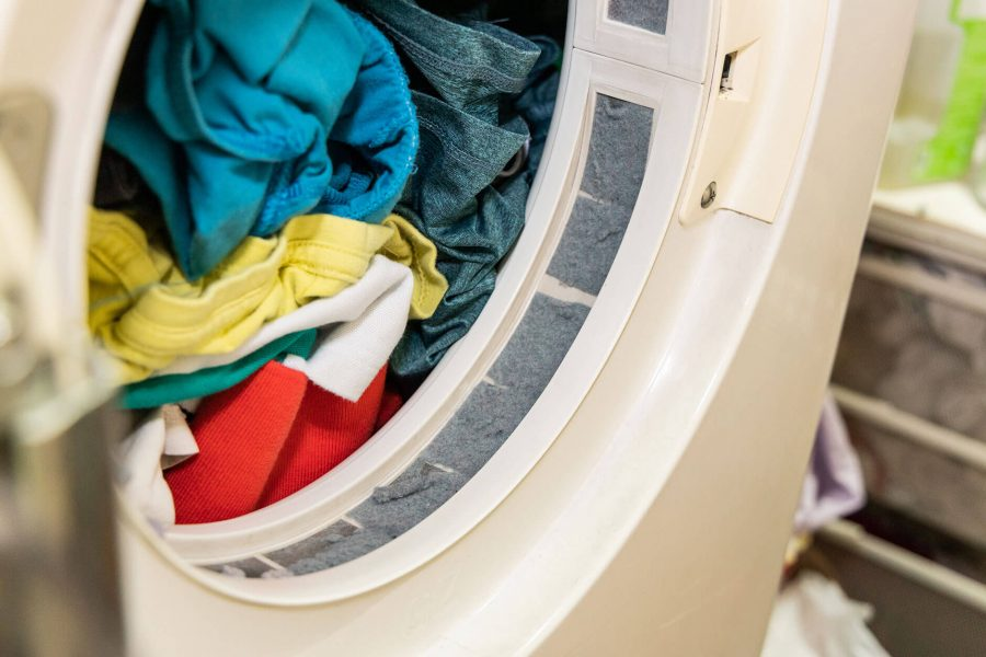 Colorful Clothing in Dryer